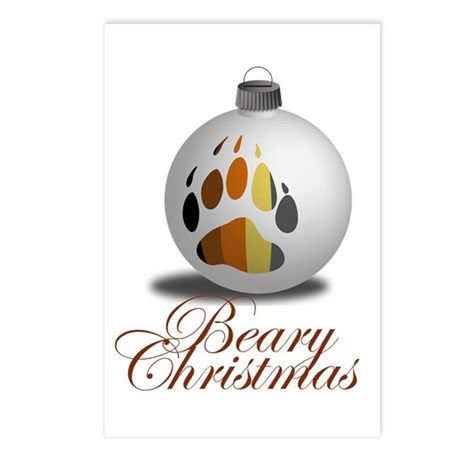 Bear Ornament Postcards (Package of 8)