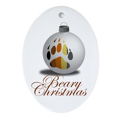 Bear Ornament Oval Ornament