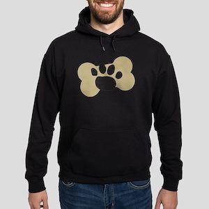 Dog Lover Paw Print Hoodie (dark)