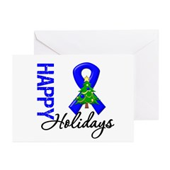 Blue Ribbon Christmas Greeting Cards (Pk of 10)