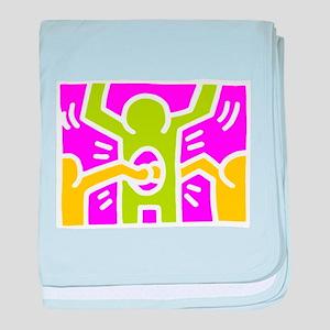 Keith Haring Holes baby blanket