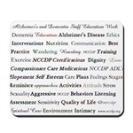 Alzheimer's and Dementia Staff Education Mousepad