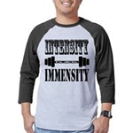 Bodybuilding Intensity Builds Im Mens Baseball Tee