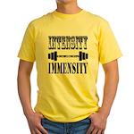 Bodybuilding Intensity Builds Immen Yellow T-Shirt