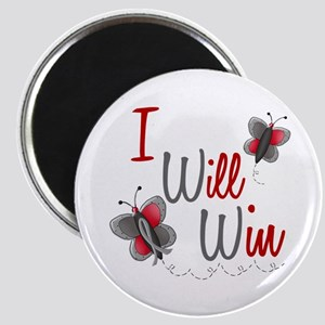 I Will Win 1 Butterfly 2 GREY Magnet