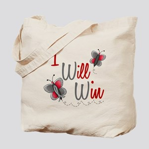 I Will Win 1 Butterfly 2 GREY Tote Bag