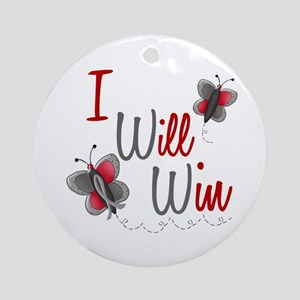 I Will Win 1 Butterfly 2 GREY Ornament (Round)
