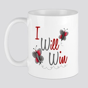 I Will Win 1 Butterfly 2 GREY Mug