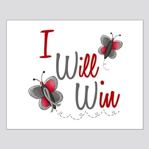 I Will Win 1 Butterfly 2 GREY Small Poster