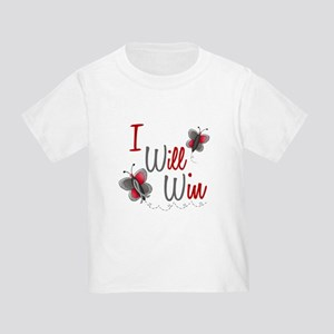 I Will Win 1 Butterfly 2 GREY Toddler T-Shi