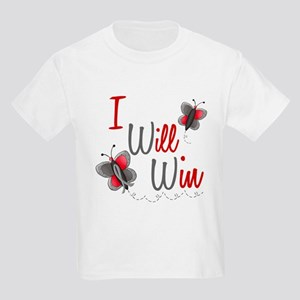 I Will Win 1 Butterfly 2 GREY Kids Light T-Shirt