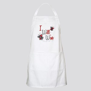 I Will Win 1 Butterfly 2 GREY BBQ Apron