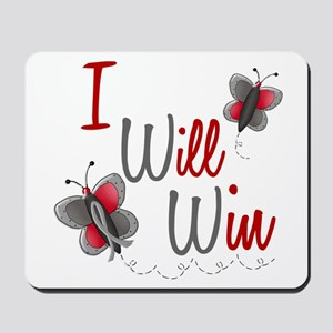 I Will Win 1 Butterfly 2 GREY Mousepad