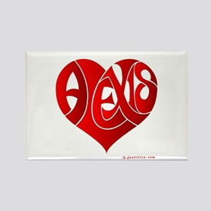Alexis (Red Heart) Rectangle Magnet