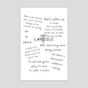 Carlisle Quotes Mini Poster Print