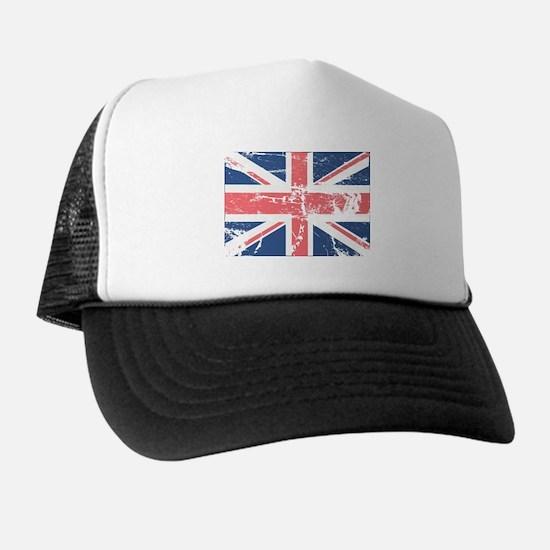 Worn and Vintage British Flag Trucker Hat
