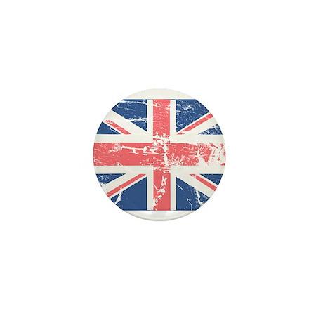 Worn and Vintage British Flag Mini Button (100 pac