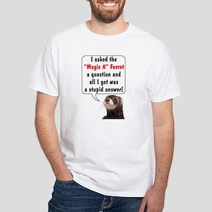 Magic 8 Ferret White T-Shirt
