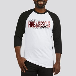 Cousin My Hero - Fire & Rescue Baseball Jersey