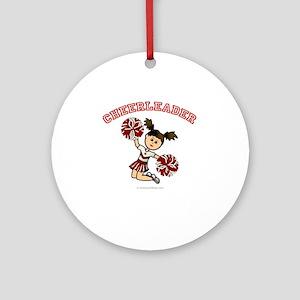 Cheerleader Ornament (Round)