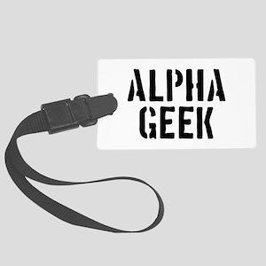 Alpha Geek Large Luggage Tag