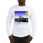 Deer Crossing on Skis Long Sleeve T-Shirt