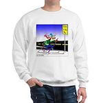 Deer Crossing on Skis Sweatshirt