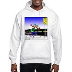 Deer Crossing on Skis Hooded Sweatshirt