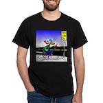 Deer Crossing on Skis Dark T-Shirt