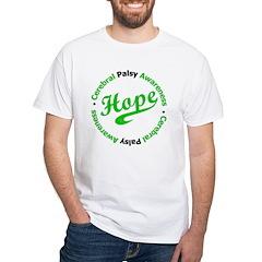 CerebralPalsyHopeSporty White T-Shirt