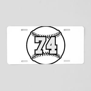 74 Baseball Raster 3 color Aluminum License Plate