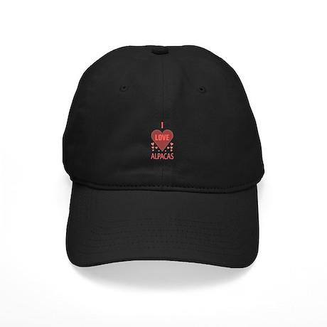 I Love Alpacas Black Cap
