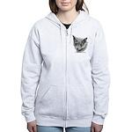 Russian Blue Cat Women's Zip Hoodie