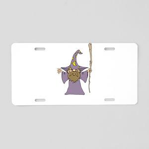 Wizard Cartoon Aluminum License Plate