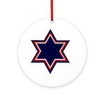 Jewish Star Ornament (Round)