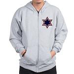 Jewish Star Zip Hoodie