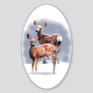 King's Fawns Oval Sticker