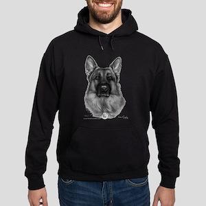 Rikko, German Shepherd, Polic Hoodie (dark)