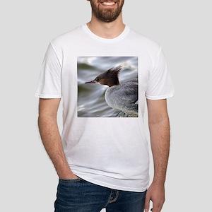 Crazy Redhead Merganser Fitted T-Shirt