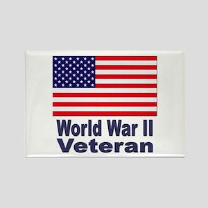 World War II Veteran Rectangle Magnet