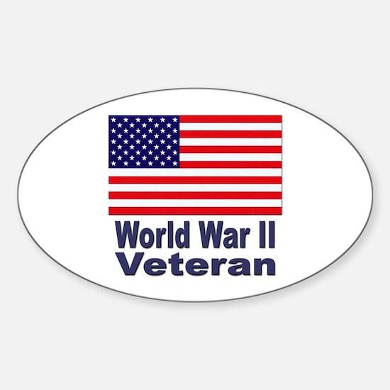 World War II Veteran Oval Decal