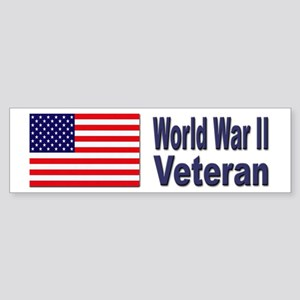 World War II Veteran Bumper Sticker