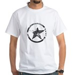 Military Star White T-Shirt