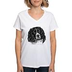 Cocker Spaniel (Parti-color) Women's V-Neck T-Shir
