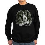 Cocker Spaniel (Parti-color) Sweatshirt (dark)