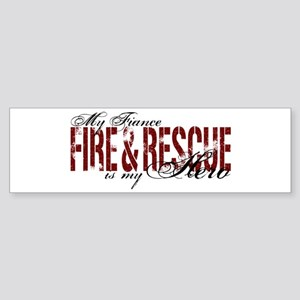 Fiance My Hero - Fire & Rescue Bumper Sticker