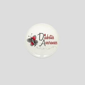 Diabetes Awareness 1 Butterfly 2 Mini Button