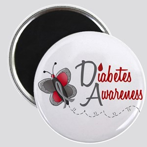 Diabetes Awareness 1 Butterfly 2 Magnet