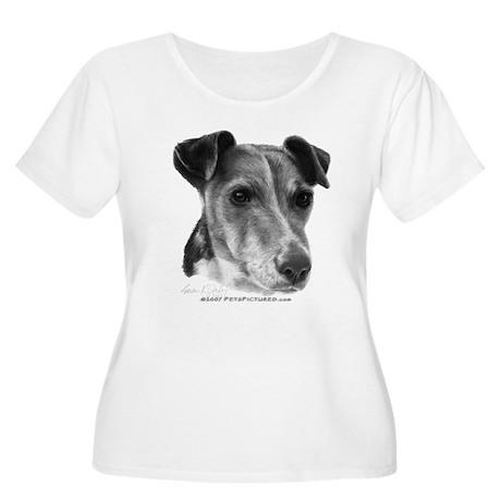 Smooth Fox Terrier Women's Plus Size Scoop Neck T-
