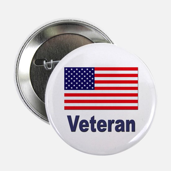 "American Flag Veteran 2.25"" Button (10 pack)"